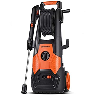 PAXCESS Electric Pressure Washer, Jet Washer 1800W 2150 PSI Car Power Washer Patio Cleaner Machine with Long Hose, Spray Gun for Cleaning Vehicles, Home Garden Furniture, Decking by PAXCESS