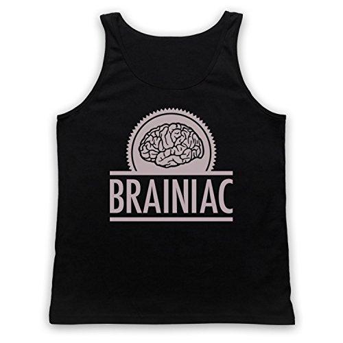 Brainiac Hipster Tank-Top Weste Schwarz
