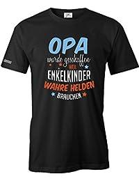 OPA WURDE GESCHAFFEN WEIL ENKELKINDER WAHRE HELDEN BRAUCHEN - HERREN - T-SHIRT by Jayess