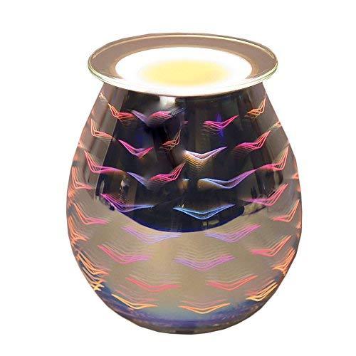 3D Design Elektrische Wax Melt Brenner Wave Echo Lampe Duft Tart Duft Aroma Wärmer 13cm -