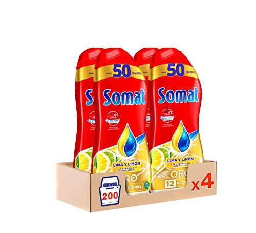 Somat Oro Gel Lavavajillas Limón - Pack de 4