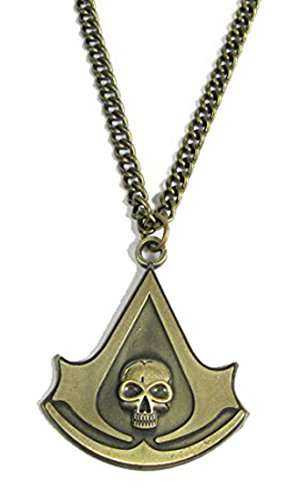 Assassin's Creed 4 Iv Black Flag Logo Bronze Pandant Necklace Cosplay Costume - B by Charm
