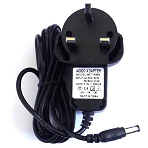 Dyysells Chargeur pour lecteur de DVD portable Polaroid PDVD-193C Prise GB
