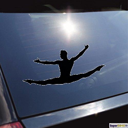 Balletttänzerin tanzen turnen Gymnastik Typ 5 Aufkleber ca. 20 cm Autoaufkleber Tuningaufkleber von SUPERSTICKI® aus Hochleistungsfolie für alle glatten Flächen UV und Waschanlagenfest Tuning Profi Qualität Auto KFZ Scheibe Lack Profi-Qualität Tuning