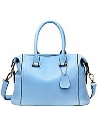 Bolso Femenino Simple Bolso de Mano Burton Paquete Diagonal Hombro , azul claro