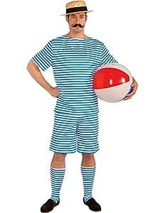 Alexandre Costumes AC18006-M Mens 1920 Homme maillot de bain Costume - Medium