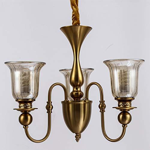 Multi-Heads Kronleuchter/Glas, Kupfer/warmes Licht, weißes Licht/Wohnzimmer, Esszimmer,-3heads -