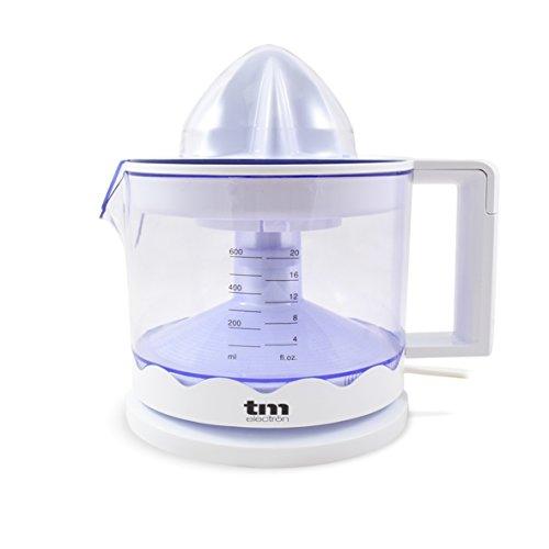 TM Electron TMPEX002 - Exprimidor de cítricos eléctrico para zumo con regulador de pulpa y fácil limpieza, 30 W, color blanco