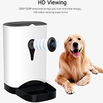 4.5L Distributeur de Croquettes pour Chats et Chiens - Distributeur Automatique de Nourriture pour chien et chat et Animaux de Compagnie avec télécommande WiFi & moniteurs vidéo Rechargeable