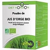 DIET HORIZON - Poudre jus orge bio 60 sticks - Boîtes de 60 sticks- (pour la quantité plus que 1 nous vous remboursons le port supplémentaire)