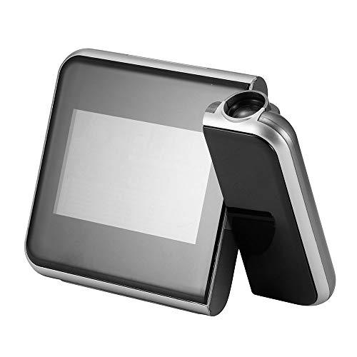 Sunsbell Projektionsuhr, Decken- / Wandprojektion Wecker, Digital-Wecker-Farbbildschirm Desktop Clock Display-Kalender, Temperatur, Snooze, Hintergrundbeleuchtung