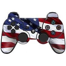 Sony Playstation 3- Lámina protectora adhesiva para mando de PS3, Patriotic USA Flag