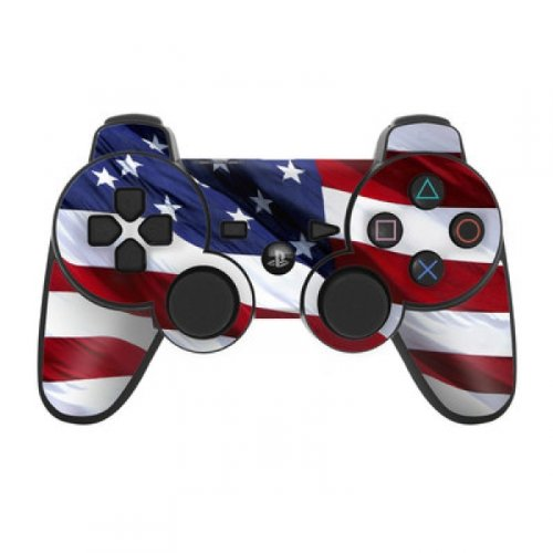 Playstation 3 Controller Skin modding Sticker - Patriotic USA