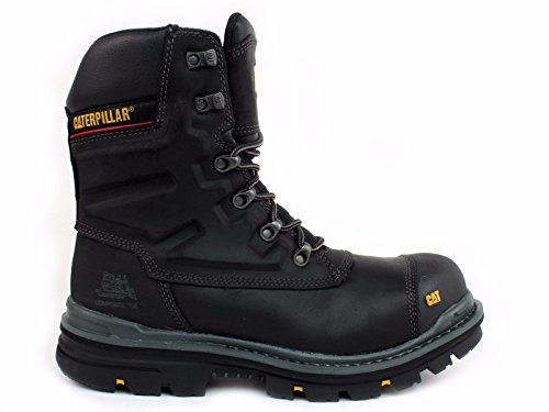 CAT Workwear Mens Premier Waterproof Leather S3 Safety Boots Black