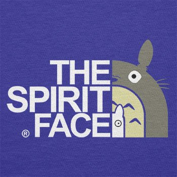 TEXLAB - The Spirit Face - Herren Langarm T-Shirt Marine