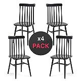 dicoro Pack 4 Stühle Maurice Holz, Windsor Schwarz