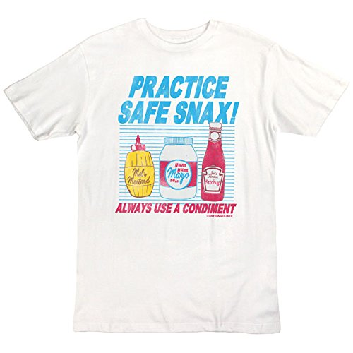 David and Goliath Practice Safe Snax Mens T-shirt 41tfdfi8V9L