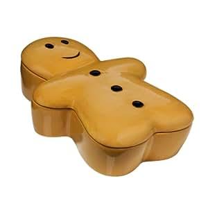 Premier Housewares Boîte à cookies Petit bonhomme de pain d'épices 24,2 cm x 17,9 cm x 7,2 cm