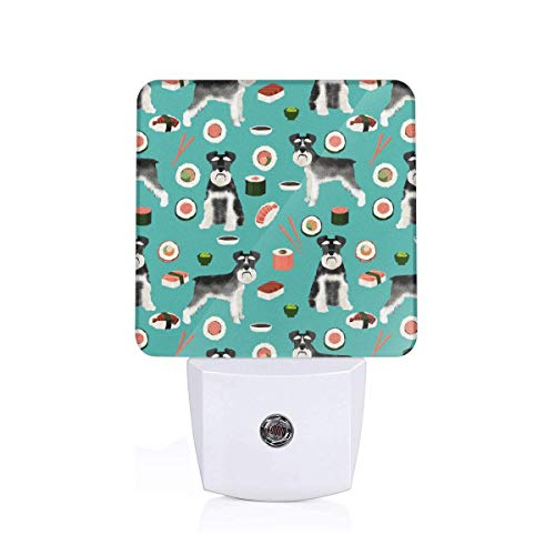 Black And White Sushi Food Dog Breed Teal Plug-in Night Light Warm White LED Nightlight Dusk-to-Dawn Sensor for children-US - Food Products Dawn