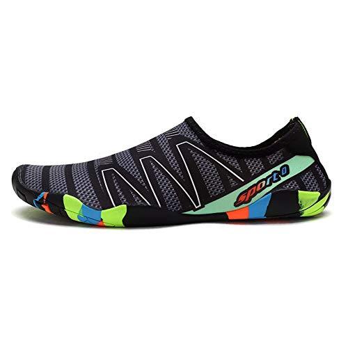 XYL HOME Wasser-Schuhschwarzes Muster Ultra helle Strandsocken, die die Socken tauchen Klassische Barfußwassersport-Schuhsocken-Strandschwimmen surfen, üben Yoga, 44