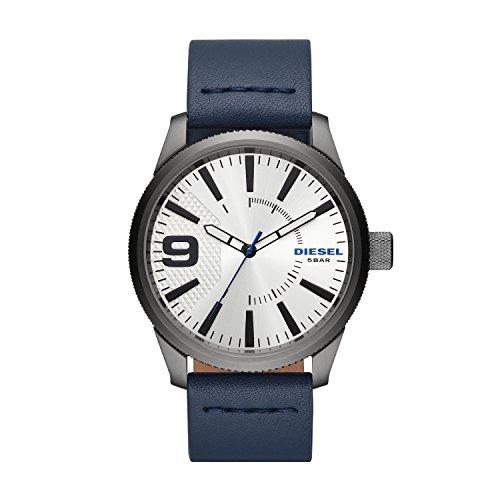 Diesel Herren Analog Quarz Smart Watch Armbanduhr mit Leder Armband DZ1859