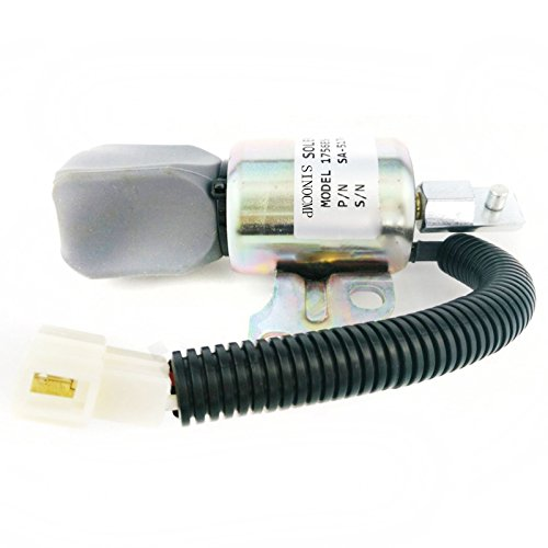 1756es-24suc5b1s5sa-5176-2424V Fuel Shut Off Solenoid-sinocmp cp-u0308Diesel Motor Stop für Kubota Stop Solenoid Teile, 3Monate Garantie - Kubota Diesel Motor