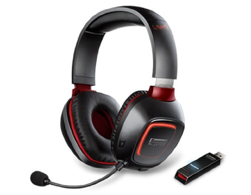 Creative Sound Blaster Tactic3D Wrath Wireless Gaming Headset (mit THX, kabellos) schwarz Creative Usb Power Adapter