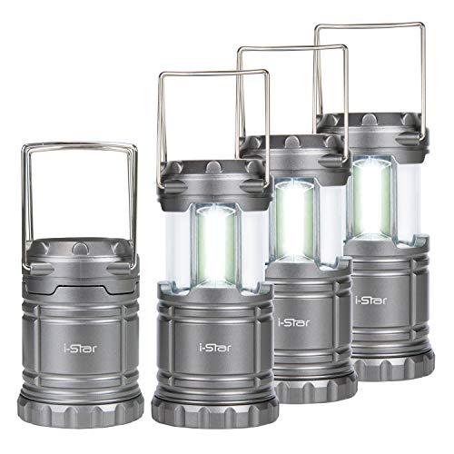 Campinglampe Camping Laterne LED 4 Stück Set, Tragbare Outdoor Camping Lampe, Kellerlampe Batteriebetrieben