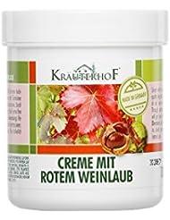 Krauterhof Crème de Pied pour varices avec Marron et feuilles de vigne rouge