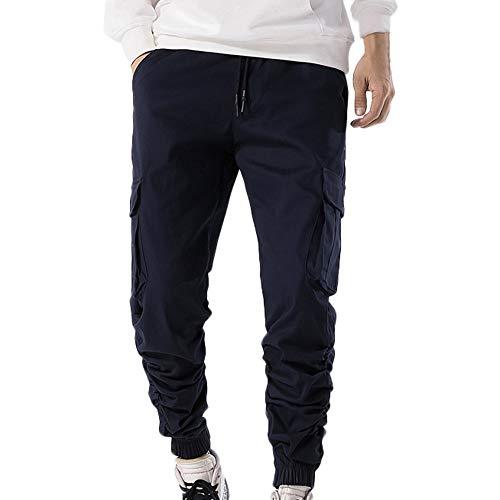 Overdose pantaloni uomo cargo slim fit chino pantaloni uomo da lavoro c2019015 (38,marina militare)