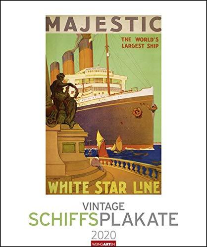 Vintage Schiffsplakate Kalender 2020