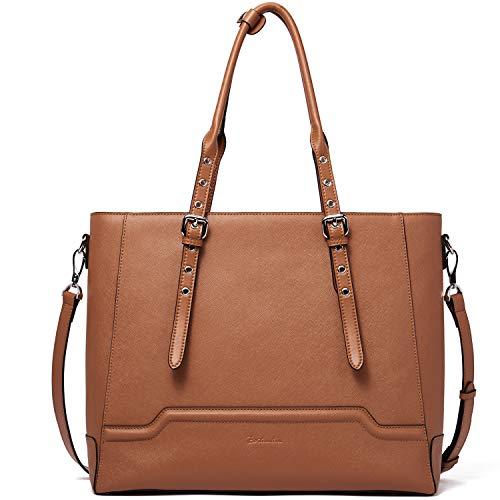 BOSTANTEN Leder Handtaschen Damen Businesstasche Schultertasche 15.6 Zoll Laptoptasche Frauen Designer Ledertaschen -