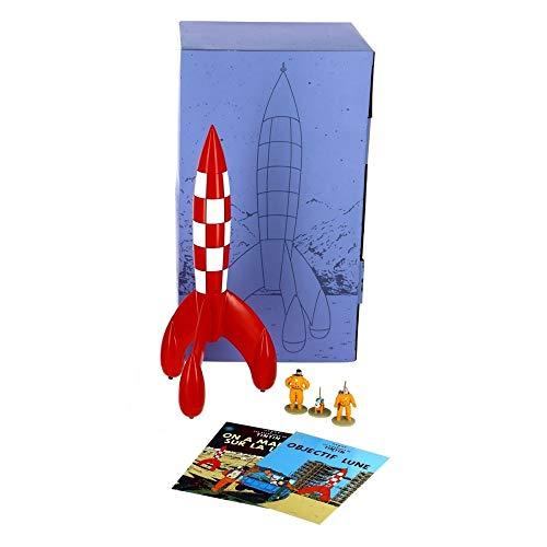Moulinsart Pack de colección: El Cohete Lunar con Las Figuras de Tintín, Haddock y Milú