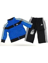 Adidas Anzug Baby Jogginganzug blau/schwarz Trainingsanzug Junge boy Set Jacke+Hose