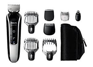 Philips Series 5000 8 in 1 Waterproof Mens Grooming Kit (Beard, Stubble and Body Trimmer, Hair Clipper)