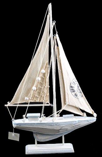 30-cm-nautico-distressed-lavado-blanco-adorno-de-vela-de-madera-barco-yate-azul