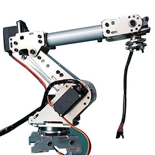 perfeclan Roboterarm Bausatz 6 Achsen DIY Mechanischer Roboter Arm mit 6 Servomotoren