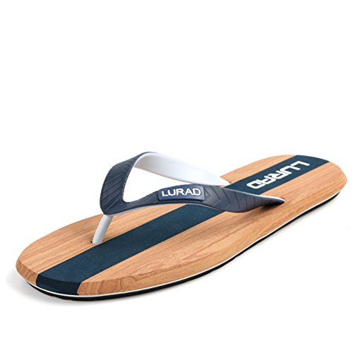 Actuel mens double flip-flops en été/Sandale/Souliers de plage masculin/Anti-dérapant plate-forme sandales et pantoufles B