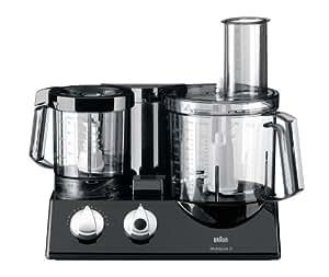 Braun K 700 Vital Multiquick 5 Küchenmaschine / 600 Watt / 2 Liter / Entsafter-/Zitruspressenaufsatz / schwarz