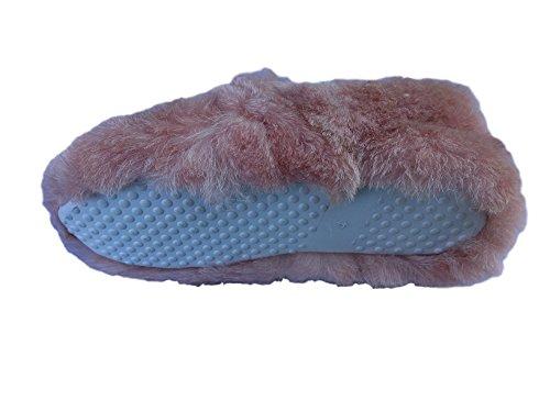 Womens Coolers Mule Slip-On Clogs Hausschuhe leichte Leopard Fell Größen 37- 41 EU Rose
