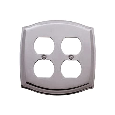 Baldwin 4781.030.CD Colonial Design Double Duplex Switch Plate, Polished Brass - Lacquered by
