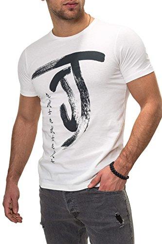 JACK & JONES Herren T-Shirt Kurzarmshirt Top Print Shirt Casual Basic O-Neck (L, Cloud Dancer/Chi/1) -
