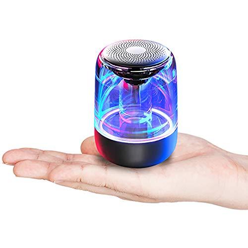 LINGYUN Tragbare Farbe LED-Licht Bluetooth-Lautsprecher, HiFi-Sound mit Mikrofon, Unterstützung TF-Karte Wiedergabe und TWS-Funktion, geeignet für Indoor-und Outdoor-Aktivitäten