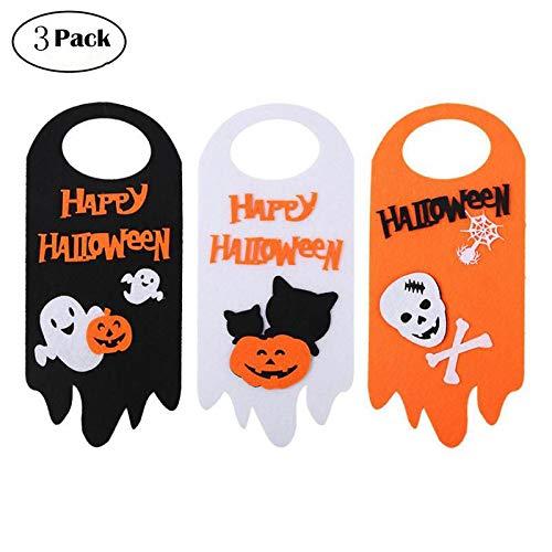 KANKOO Halloween Dekoration Party Requisiten Türhänger Party Requisiten Indoor Outdoor Halloween Requisiten (3 Pack)