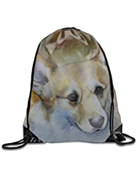 PhqonGoodThing Gym Sack Bag Mr Corgi Drawstring Backpack Sport Bag for Men    Women School Travel 870c21dc80d