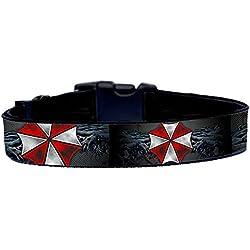 Resident Evil Umbrella Corporation Collar Perro Hecho a Mano Talla L sin Correa Dog Collar HandMade