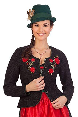Damen Trachten Strickjacke - WARIS - natur, schwarz, Größe XXL
