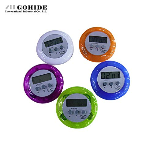 Idea High Gohide Küchen-Timer, in Kreisform, mehrfarbig, optional Edelstahl blau