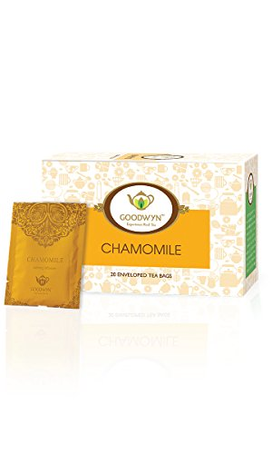 Goodwyn Chamomile Tea, Nature's Soothing and Calming Health Beverage, 20 Tea Bags