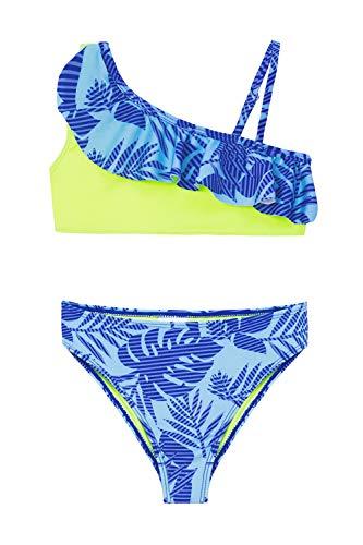 IKALI Conjunto de Bikini de Dos Piezas para niñas, Traje de baño con Volantes flamencos,...